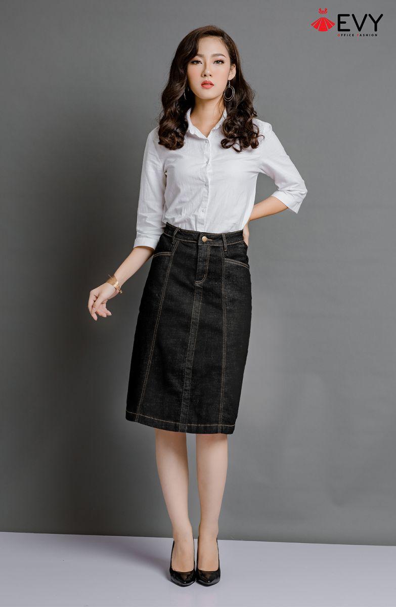 Mạnh dạn biến hóa phong cách thời trang của mình cùng chân váy chữ A dài nào bạn!